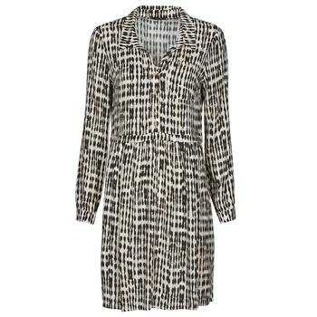 material Women Short Dresses One Step RANDA Beige / Black