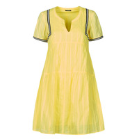 material Women Short Dresses One Step ROYA Yellow