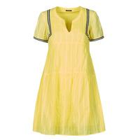 material Women Short Dresses One Step ROYA Yellow