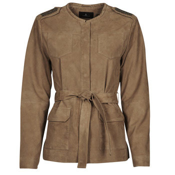 material Women Leather jackets / Imitation leather One Step DITA Cognac