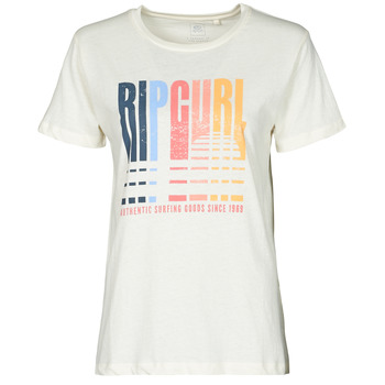 material Women short-sleeved t-shirts Rip Curl GOLDEN STATE STANDARD TEE White