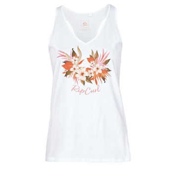 material Women Tops / Sleeveless T-shirts Rip Curl BRANDED FLORAL TANK White