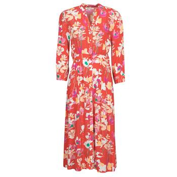 material Women Long Dresses Rip Curl SUGAR BLOOM DRESS Red