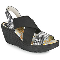 Shoes Women Sandals Fly London YAJI Black / White