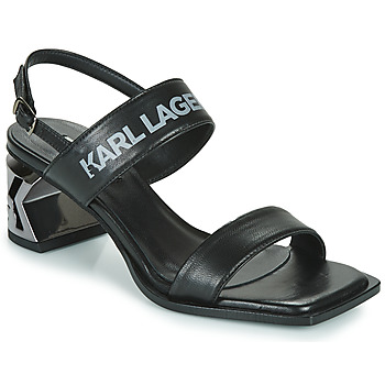 Shoes Women Sandals Karl Lagerfeld K-BLOK TWO-STRAP OPEN SANDAL Black