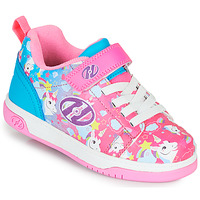 Shoes Girl Wheeled shoes Heelys DUAL UP X2 Pink / Blue