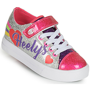 Shoes Girl Wheeled shoes Heelys SNAZZY X2 Silver / Multicolour