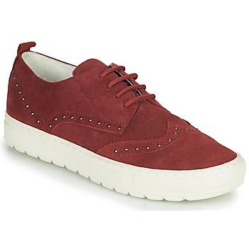 Shoes Women Low top trainers Geox D BREEDA Bordeaux