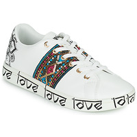 Shoes Women Low top trainers Desigual COSMIC EXOTIC INDIAN White
