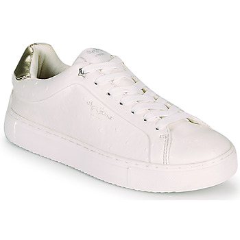 Shoes Women Low top trainers Pepe jeans ADAMS MOLLY White / Gold