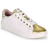 Shoes Women Low top trainers Pepe jeans KIOTO FIRE White / Gold