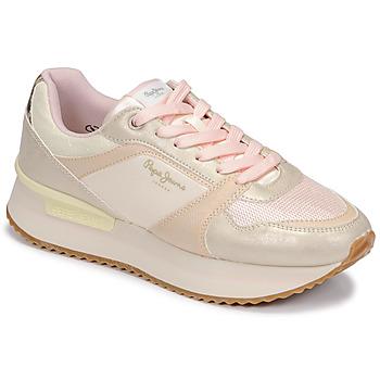 Shoes Women Low top trainers Pepe jeans RUSPER EVE Pink / Leopard