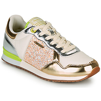 Shoes Women Low top trainers Pepe jeans ARCHIE CUTE Gold / Green