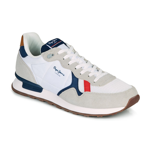 Pepe Jeans Britt Man Basic White Beige Fast Delivery Spartoo Europe Shoes Low Top Trainers Men 79 90