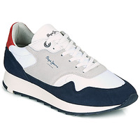 Shoes Men Low top trainers Pepe jeans SLAB SUMMER Marine / White