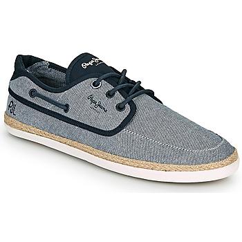Shoes Men Espadrilles Pepe jeans MAUI BOAT CHAMBRAY Marine / Grey