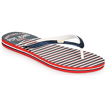Shoes Women Flip flops Pepe jeans RAKE SAILOR Blue / White / Red