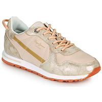 Shoes Women Low top trainers Pepe jeans VERONA W LUREX Gold