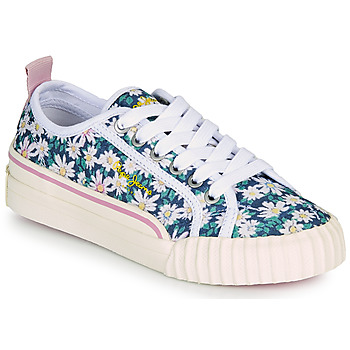 Shoes Girl Low top trainers Pepe jeans OTTIS GIRL FLOWERS Blue / Flower