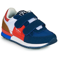 Shoes Boy Low top trainers Pepe jeans SYDNEY TREND BOY KIDS SS21 Blue / Red