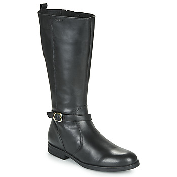Shoes Girl Boots Geox JR AGATA Black