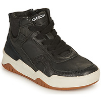 Shoes Boy Low top trainers Geox J PERTH GARÇON Black