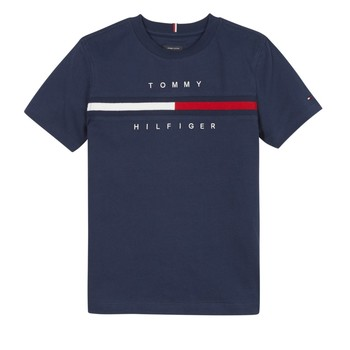 material Boy short-sleeved t-shirts Tommy Hilfiger SROUI Marine