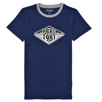 material Boy short-sleeved t-shirts Guess L1GI09-K8HM0-DEKB Marine