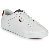 Shoes Men Low top trainers Levi's WOODWARD 2.0 White / Red