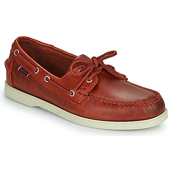 Shoes Men Boat shoes Sebago PORTLAND WAXED Red