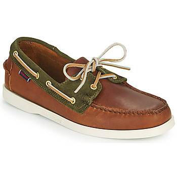 Shoes Men Boat shoes Sebago TRICKEY Brown / Green