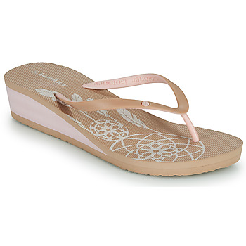 Shoes Women Flip flops Isotoner FRADA Beige