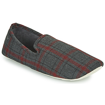 Shoes Men Slippers Isotoner FILOMENA Grey / Red