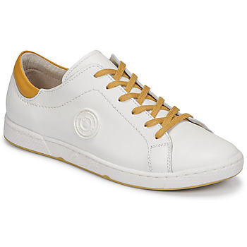 Shoes Women Low top trainers Pataugas JAYO F2G White / Ocre tan