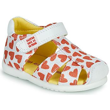 Shoes Girl Sandals Agatha Ruiz de la Prada HAPPY White / Red