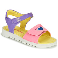 Shoes Girl Sandals Agatha Ruiz de la Prada SMILEY Pink / Violet