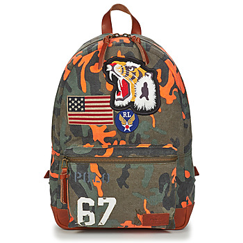Bags Men Rucksacks Polo Ralph Lauren CAMO TGR BKP-BACKPACK-CANVAS Multicolour