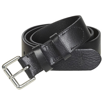 Accessorie Men Belts Polo Ralph Lauren OFFC PLQ RLR-CASUAL-SMOOTH LEATHER Black