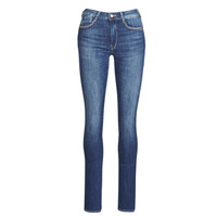 material Women straight jeans Le Temps des Cerises PULP HIGHREG Blue / Clear