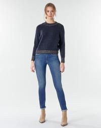 material Women straight jeans Le Temps des Cerises PULP HIGHREG Blue / Clear