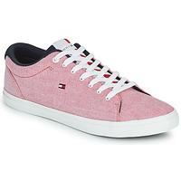 Shoes Men Low top trainers Tommy Hilfiger ESSENTIAL CHAMBRAY VULCANIZED Pink