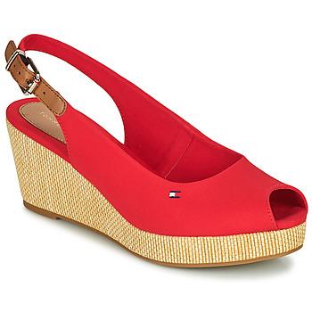 Shoes Women Sandals Tommy Hilfiger ICONIC ELBA SLING BACK WEDGE Orange