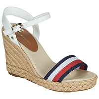 Shoes Women Sandals Tommy Hilfiger SHIMMERY RIBBON HIGH WEDGE White