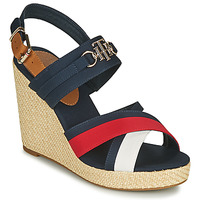 Shoes Women Sandals Tommy Hilfiger ESSENTIAL HARDWARE HIGH WEDGE White / Blue / Red