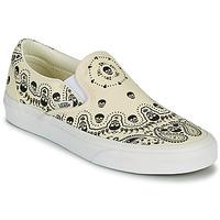 Shoes Slip ons Vans CLASSIC SLIP ON Beige / Black
