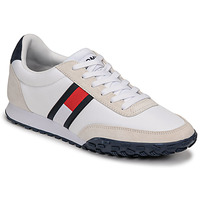 Shoes Men Low top trainers Tommy Jeans LOW PROFILE MIX RUNNER RETRO White / Blue / Red