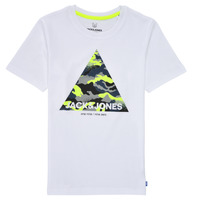 material Boy short-sleeved t-shirts Jack & Jones JJPRIME TEE White