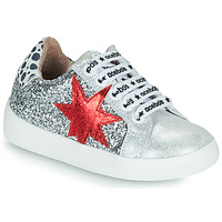 Shoes Girl Low top trainers Acebo's 5461GL-PLATA-J Silver
