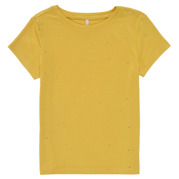 material Girl short-sleeved t-shirts Only KONMOULINS Yellow