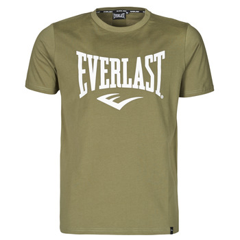 material Men short-sleeved t-shirts Everlast EVL- BASIC TEE-RUSSEL Khaki